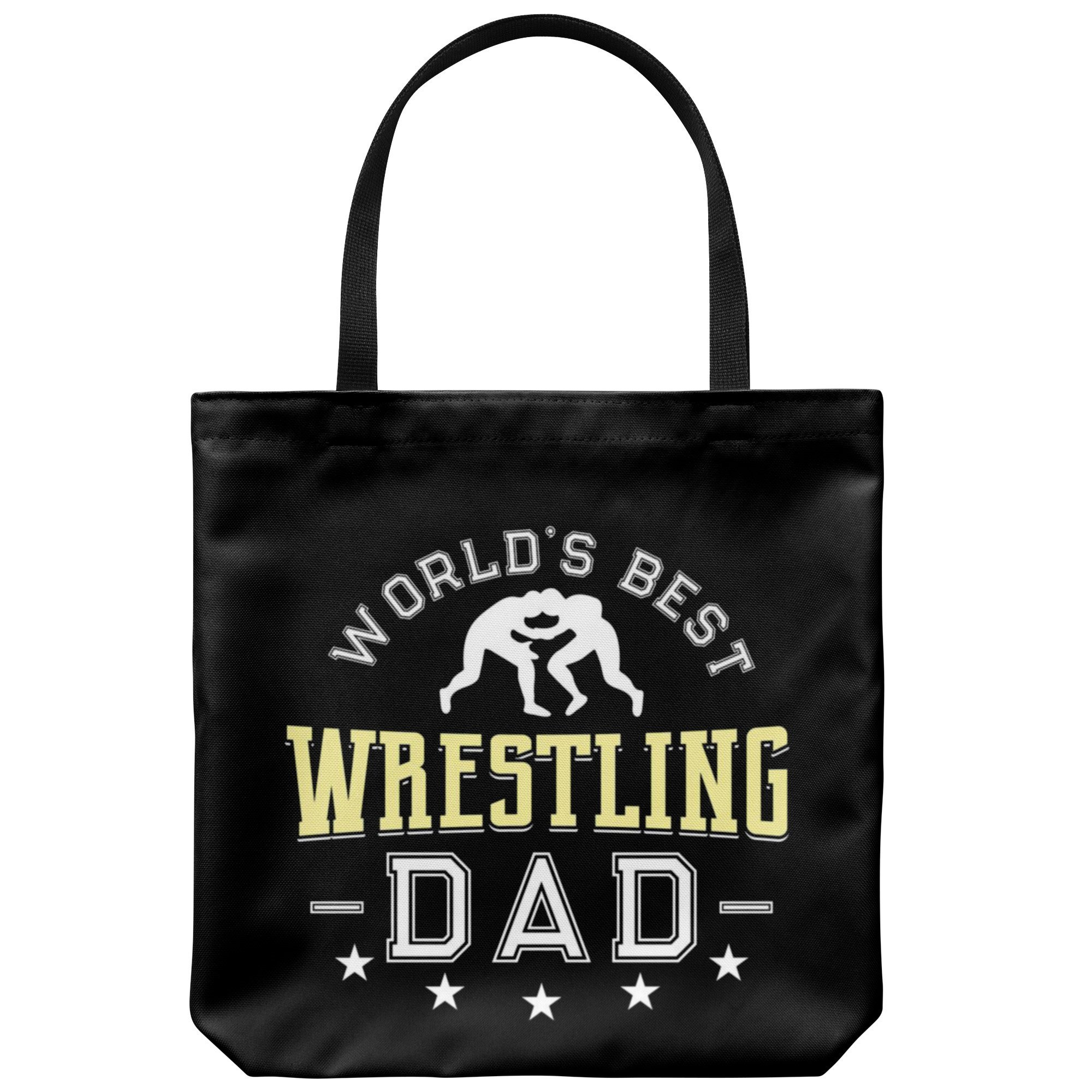 Wrestling Dad Canvas Tote Bag Funny Father's Day Wrestler World's Best by teelaunch