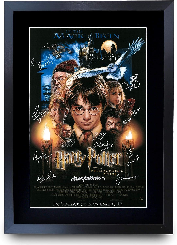 HWC Trading - Foto de Harry Potter el Reparto Firmado en A4 con autógrafo Impreso, Regalo, Piedra filósofa, A3