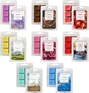 LASENTEUR Wax Melts, Wax Cubes, Soy Wax Cubes, Wax Melts Wax Cubes for Wax Warmer Cubes/Tarts, Scented Wax Melts Gift Set for Father's Day or Mother's Day, 8X2.5oz Soy Wax Melts