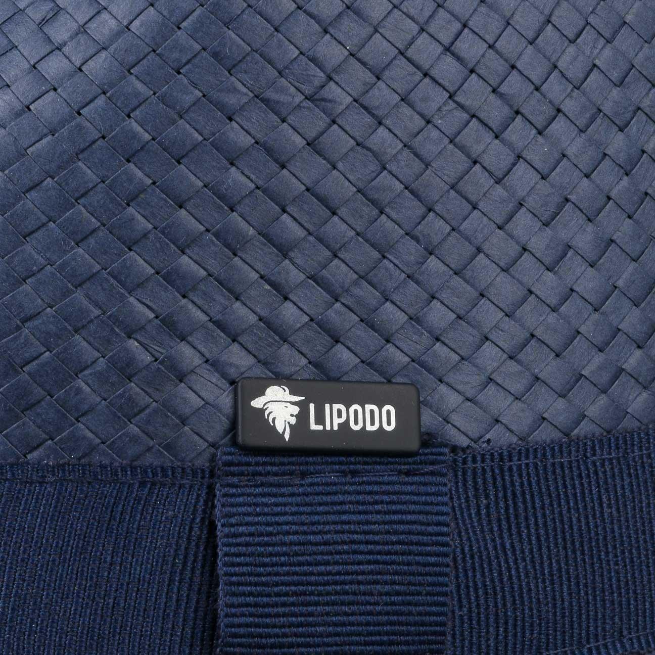 baffbd0ea7c86 Lipodo Colour City Trilby Straw Hat Women/Men | Hat Made of 100% Straw |  Straw Trilby Made in Italy | Sun Hat in S-L | Blue Fedora with Grosgrain  Ribbon: ...