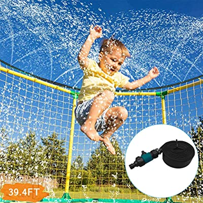 39.7FT Trampoline Waterpark Heavy Duty Sprinkler Hose- Fun Summer Outdoor Water Game Toys Accessories - Best for Boys & Girls and Adults - Made to Attach On Safety Net Enclosure: Kitchen & Dining