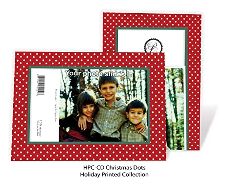 christmas dots 4x6 photo insert note cards 24 pack by plymouth cards - 4x6 Photo Insert Christmas Cards