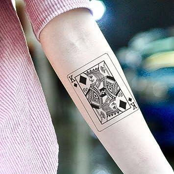Tatuaje Temporal de Naipe Rey de Diamantes (2 Piezas) - www ...