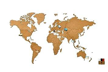 Amazon De Mimi Innovations Weltkarte Wand Hochwertig Holz