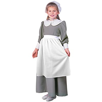 Child's Pilgrim Costume Dress: Toys & Games