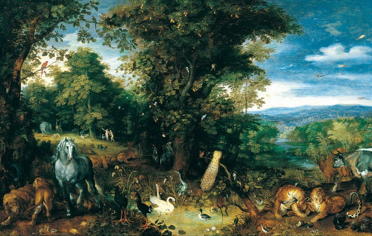 Berkin Arts Pieter Bruegel The Elder Giclee Art Paper Print Art Works Paintings Poster Reproduction(The Garden of Eden) #XZZ