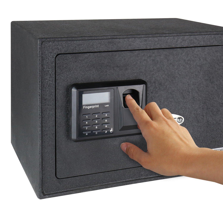 35 x 25 x 25 cm Cierre Electr/ónico HMF 49122 Caja Fuerte Escaneo de Huellas Dactilares Safe