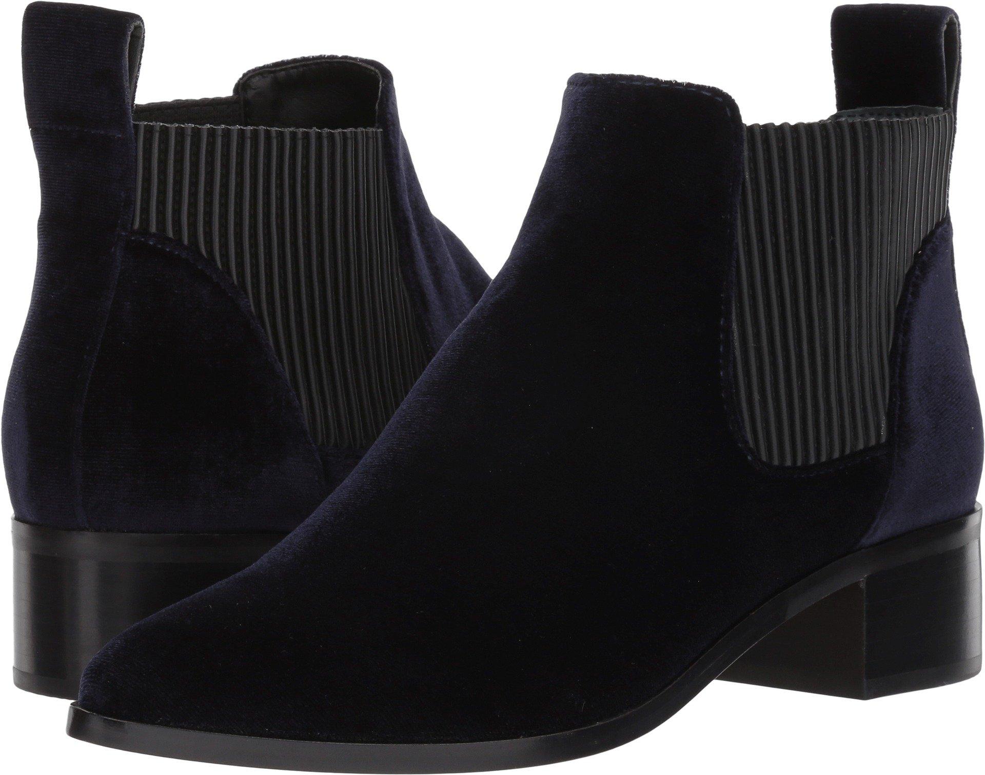 Dolce Vita Women's Macie Ankle Boot, Navy Velvet, 9.5 M US