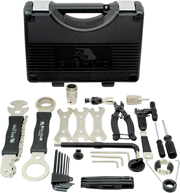 BIKEHAND Quality Bike Bicycle Repair Maintenance Tool Set Kit : Sports & Outdoors