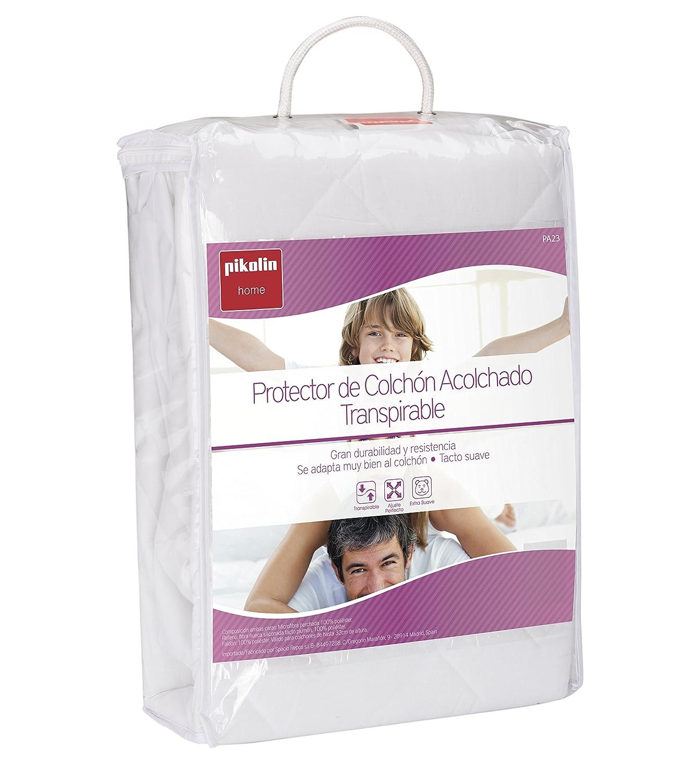 Pikolin Home - Protector de colchón acolchado cubre colchón, transpirable, 80 x 190/200 cm, cama 80 (Todas las medidas): Amazon.es: Hogar