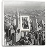 Pretty Little Stickers Sticker en vinyle pour interrupteur Motif New York en noir et blanc