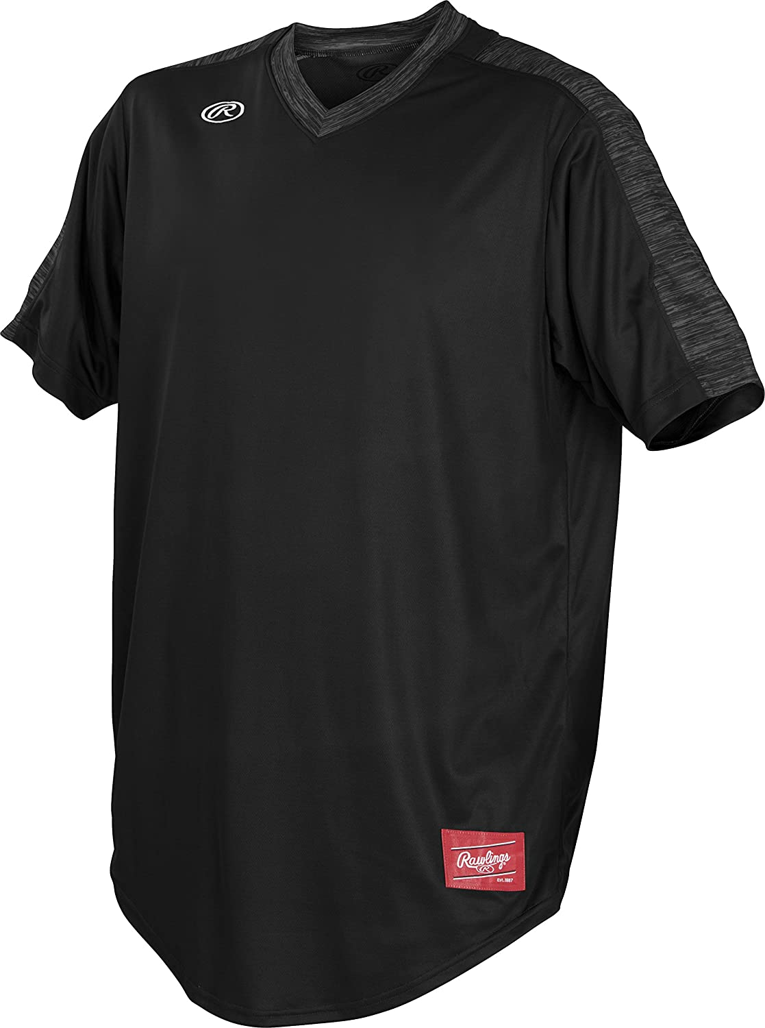 Black X-Large Rawlings Unisex Launch Series Youth V-Neck Jersey