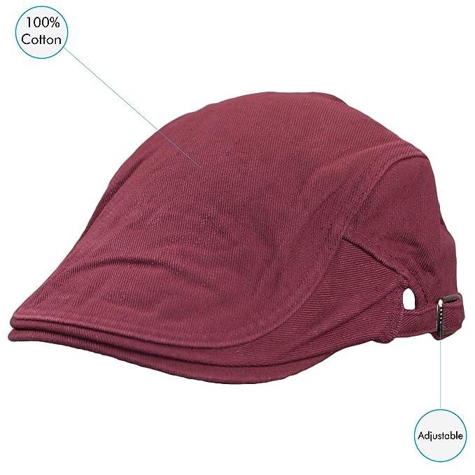Dazoriginal Flat Cap Newsboy Cotton Bakerboy Dai Cap Hunting Hat Peak caps  Red  Amazon.co.uk  Sports   Outdoors 2c71c6e1dc34