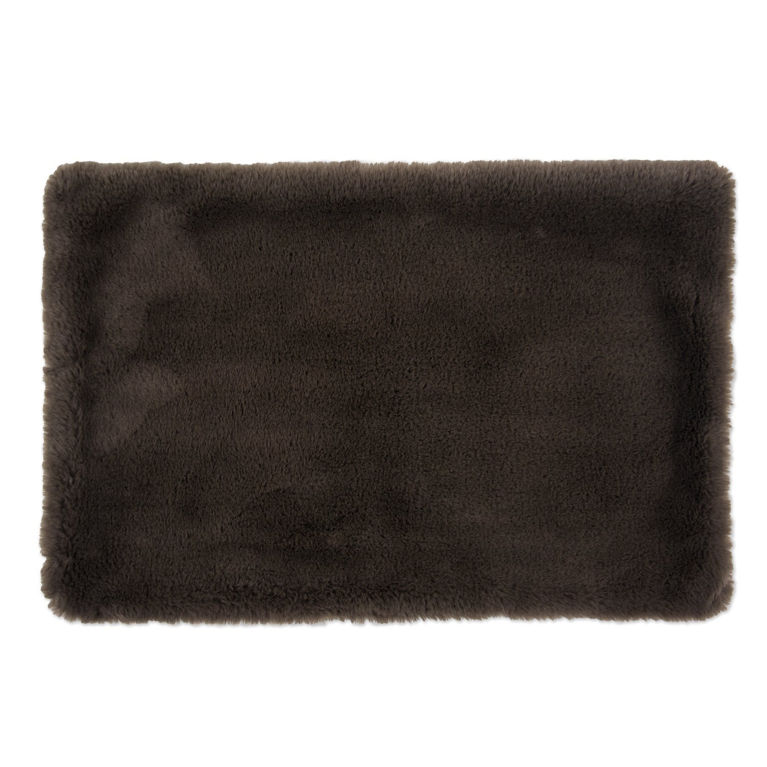 DII Bone Dry Faux Fur Silky Soft XXX-Large Pet Cage Liner for Dogs & Cats, 29X48'', Perfect for Kennels, Car Trips, Floors, Crates-Brown