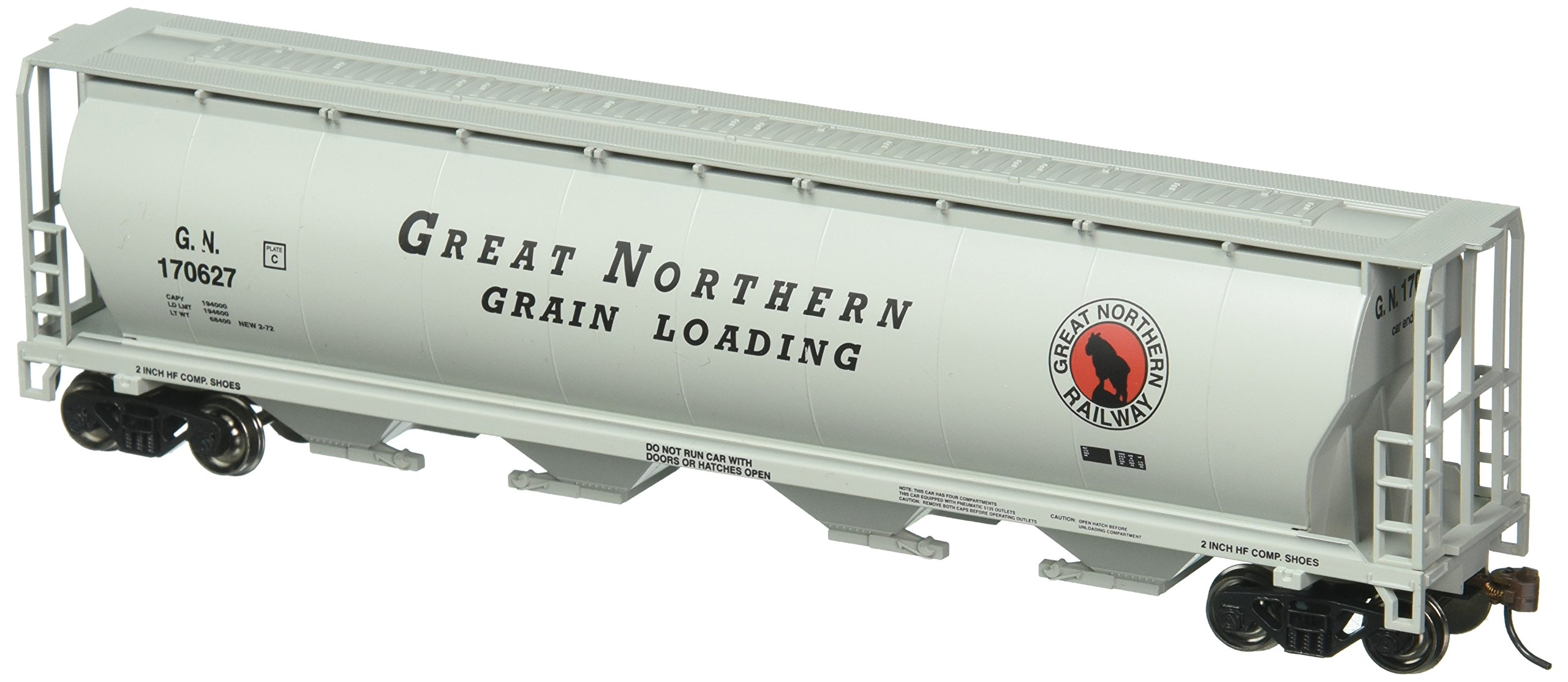 Bachmann Trains Great Northern 4 Bay Cylindrical Grain Hopper