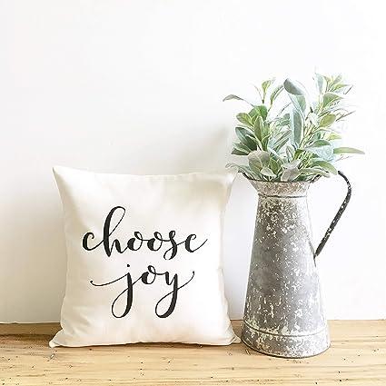 Amazoncom Georgia Barnard Choose Joy Pillow Cover Inspirational