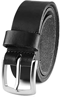 "USA Men/'s Casual Full Grain Classic Leather Dress Belt For Jeans,1.5/"" Wide"