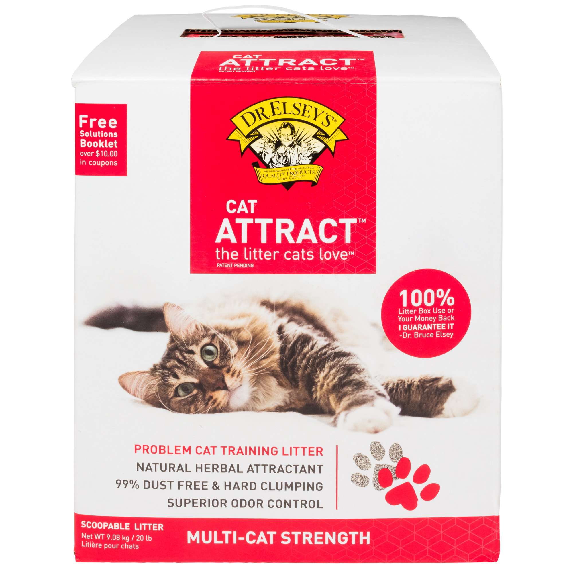 Dr. Esleys Precious Cat Attract Scoopable Clumping Cat Litter, (5Packs)