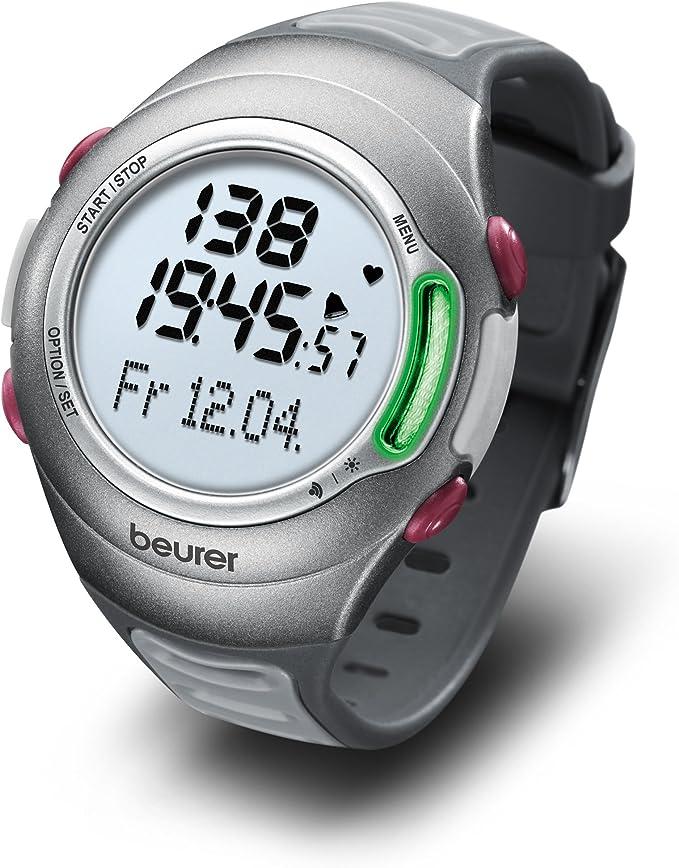 Beurer PM70 - Pulsómetro con fijación para bicicleta, calendario, conexión PC, color plata: Amazon.es: Salud y cuidado personal