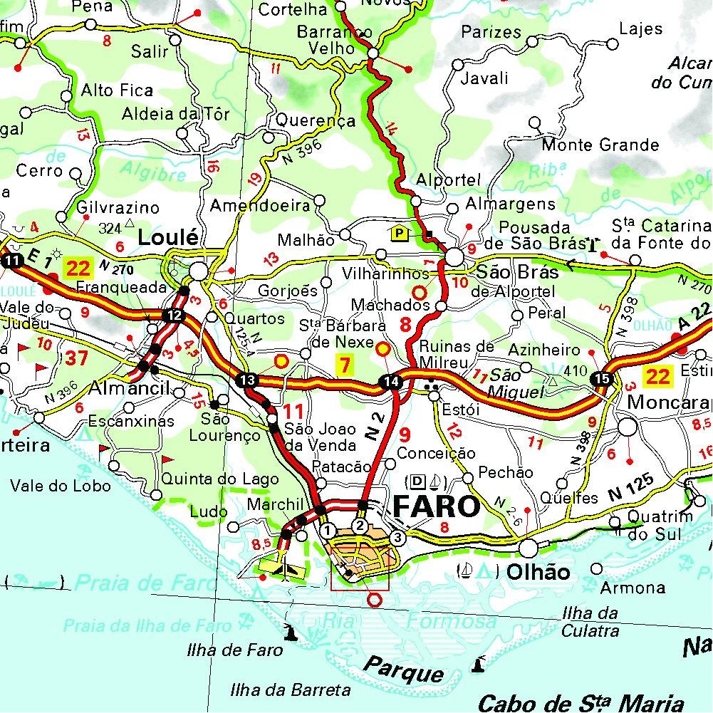 Cartina Geografica Algarve.Amazon It Portugal Sul Algarve 1 300 000 Map Michelin Libri In Altre Lingue