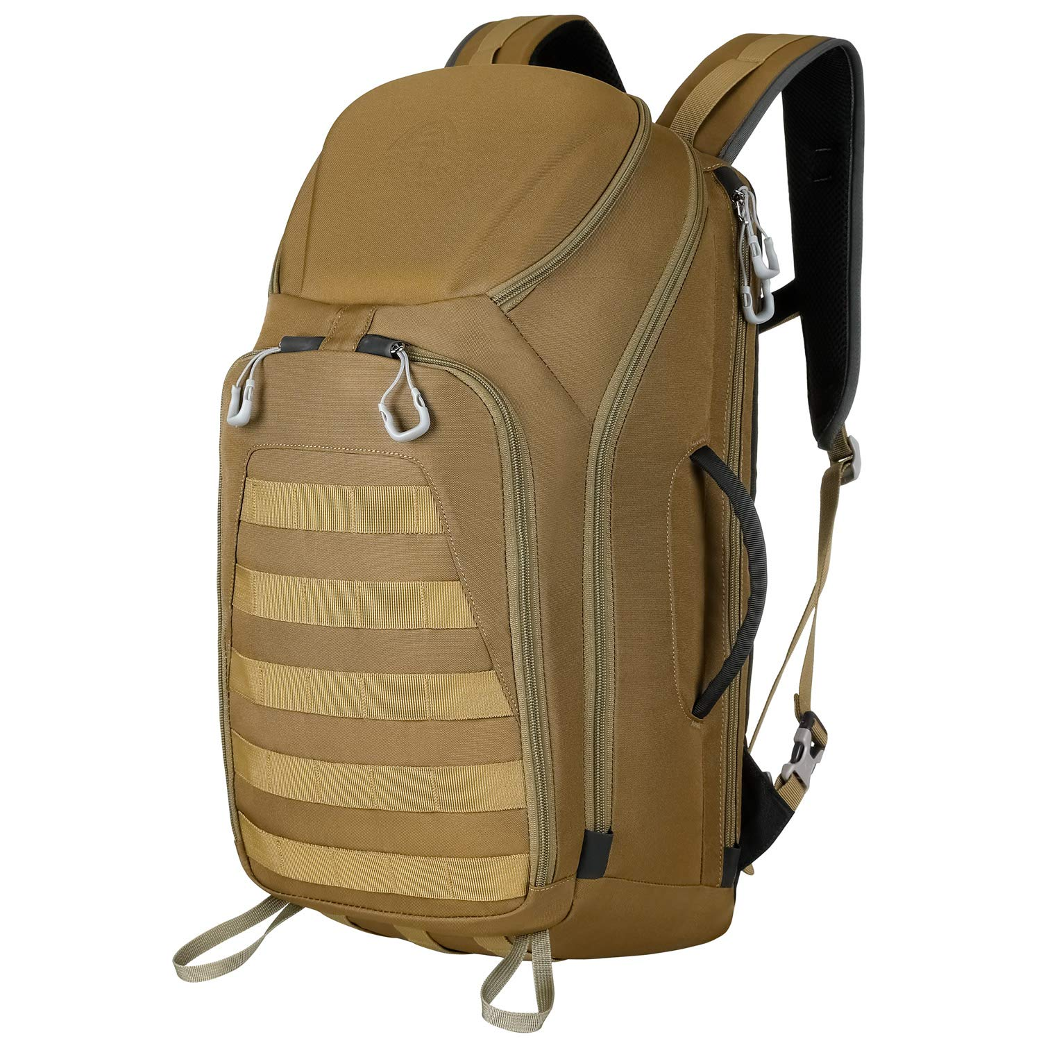 Aione Tactical Backpack Military Army Backpack Daypack 25L/30L/32L/51L Assault Pack Bug Out Bag with Hard Shell Top Pocket