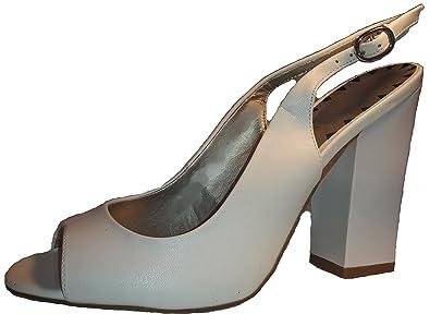 Luxuriöse Weiße Stiletto Pumps High Heels Peep Toe Sandalen