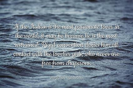 Amazon.com: Rudolph Valentino - Famous Quotes Laminated ...
