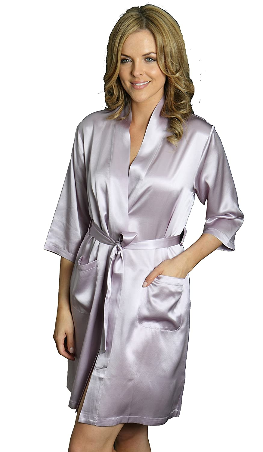 Silk Cocoon Women Dressing Gown Robe - Pure Silk - A08B at Amazon Women s  Clothing store  dd8346e65