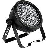 DragonX 177 LEDs Slim Par DJ Lights- RGB Amber Can 64 LED Stage Lighting uplight- DMX 512 Controlled Wedding Uplighting Wash Light