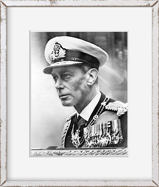 INFINITE PHOTOGRAPHS Photo: King George VI, in Royal Navy admiral's Uniform 1951