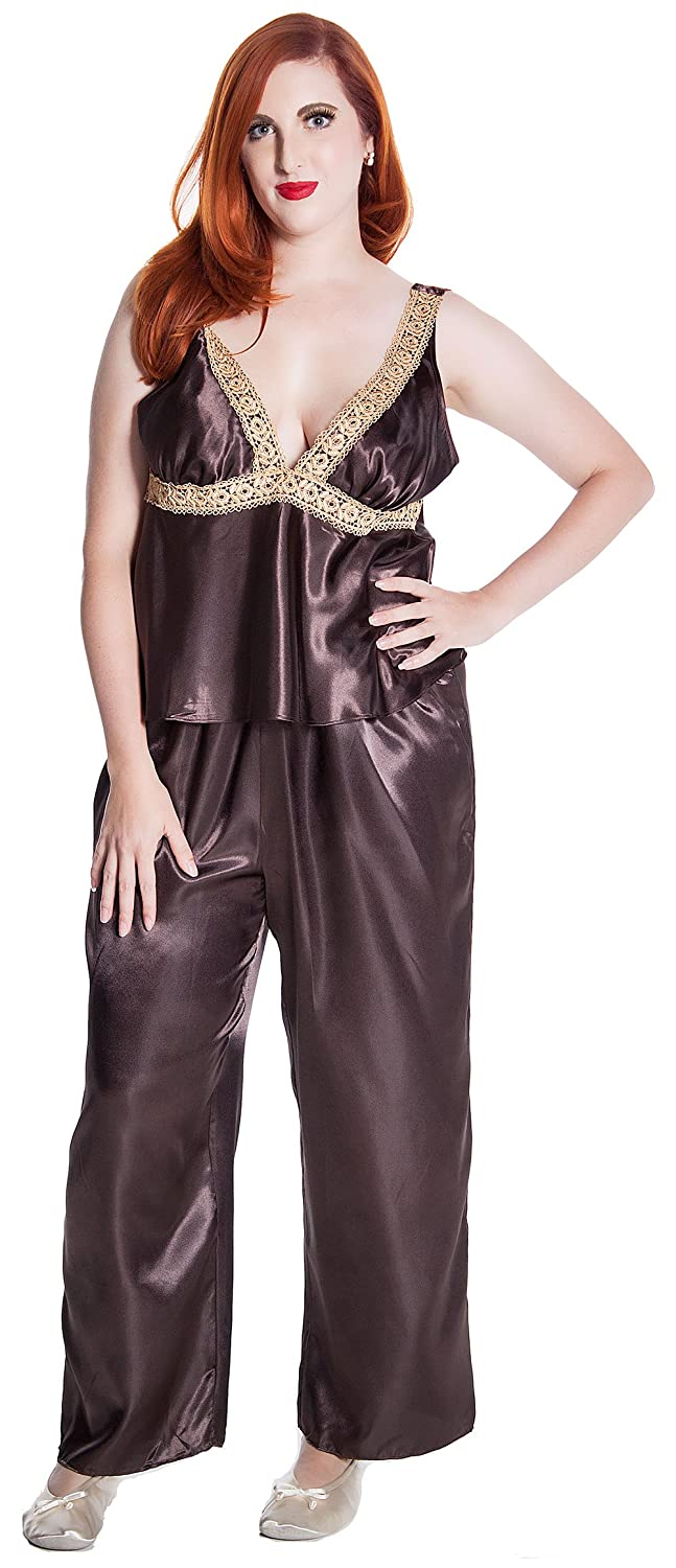 84701065363 Women s Plus Size Venice Lace Camisole Pajama Set  2033x at Amazon Women s  Clothing store