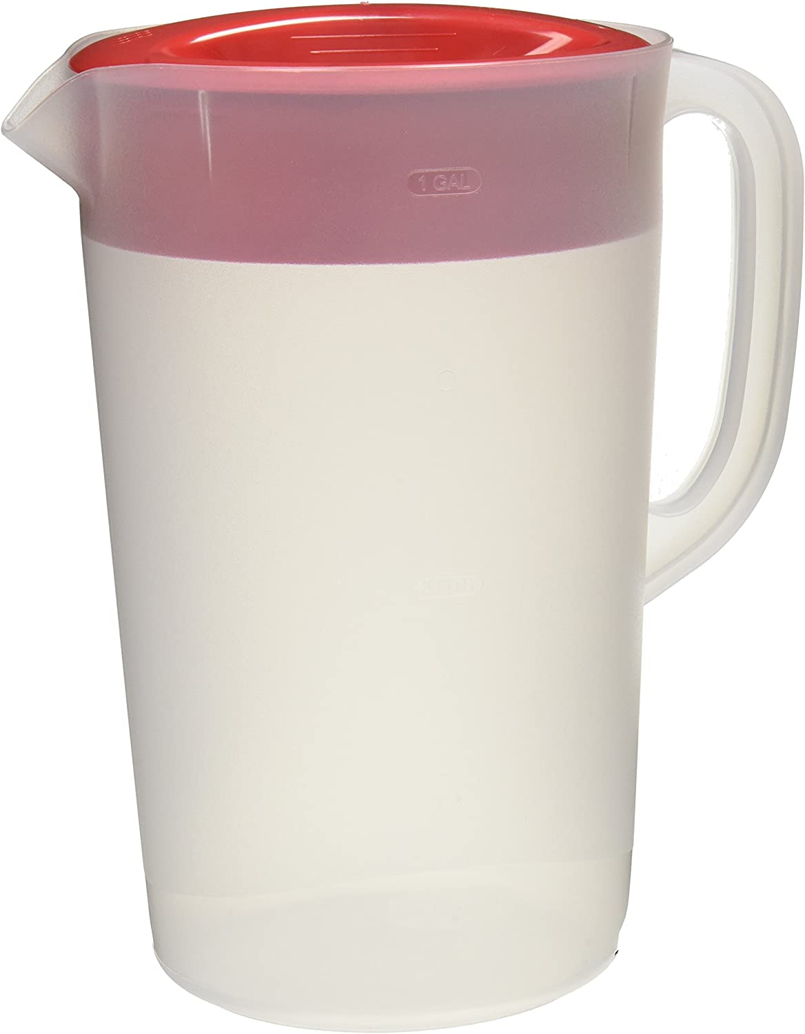 Rubbermaid Commercial RCP1777155 Not Not Available Rubbermaid Clear Pitcher, 1 Gallon, Red