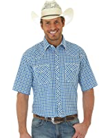 Wrangler Men's Big and Tall 20x Competition Short Sleeve Snap Shirt