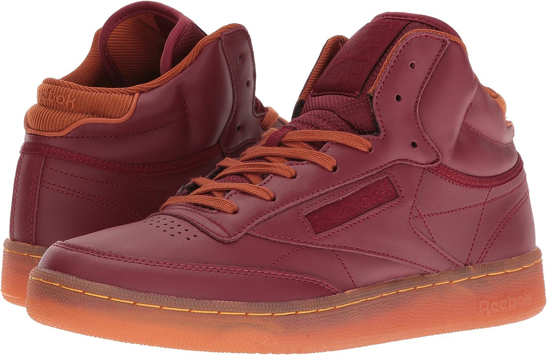 Reebok Mens Club C Mid Cord Fashion Sneaker