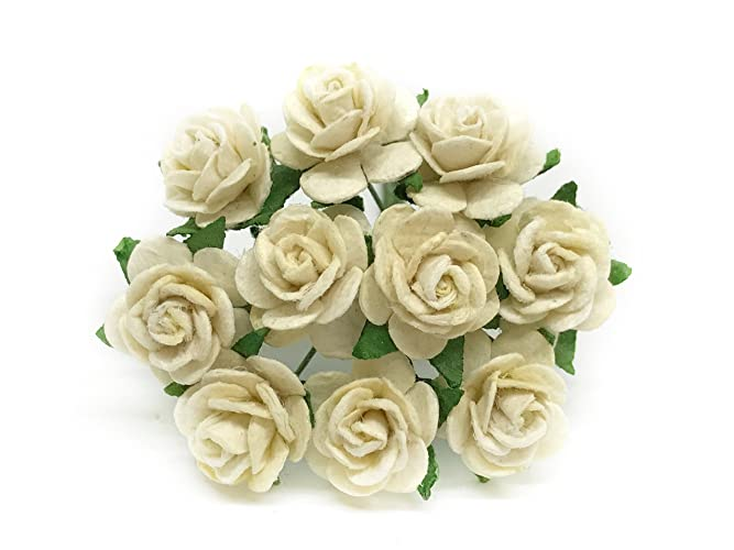 Amazon 12 Off White Mulberry Paper Flowers Paper Rose Off