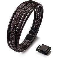 SERASAR | Premium Echtlederarmband für Männer in schwarz & braun | Verschiedene Längen | Magnetverschluss aus Edelstahl | Exklusive Schmuckschachtel | Tolle Geschenkidee