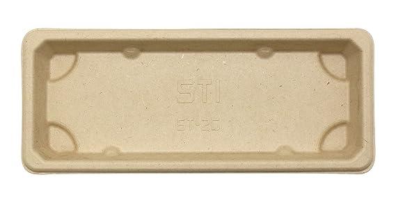 Bandejas de sushi rectangulares desechables, ecológicas y degradables, cajas de comida, cajas con tapa 100% fibra de paja de trigo natural, paquete de 50 ...