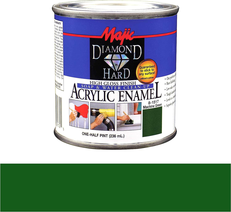 Majic Paints 8-1517-4 Diamond Hard Acrylic Enamel High Gloss Paint, Half Pint/8-Ounce, Machine Green