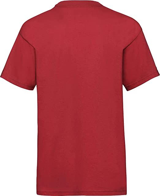 Fruit of the Loom Childrens T Shirt in Red Size 7-8 SS6B