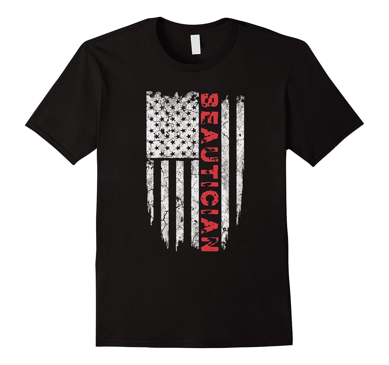 American Beautician T-Shirt Proud Beautician USA Tee Shirts-PL