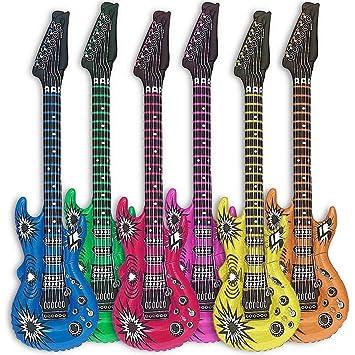 Globo de guitarra Goods & Gadgets, 6 uds., guitarras hinchables, 100