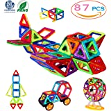 Magnetic Building Blocks, 3D Building Blocks Toys Set 87Pcs, Improve Creativity, Imagination & Brain Development –The Best Constituted Process Of Recreation & Education For Kids