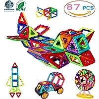 Magnetic Blocks Building Toys Set, Magnetic Tiles, Educational Toys for Baby/Kids( 87Pcs DELUXE SET)