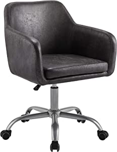 Linon Charcoal Upholstered Adjustable Brooklyn Office Chair