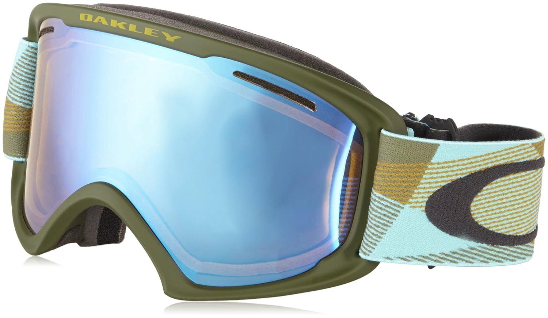 Oakley O2 XL Skibrille, Abstract Lines Burnished Blue/Hi Yellow Iridium, L:  Amazon.de: Sport & Freizeit