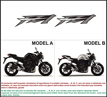 Kit adesivi decal stikers YAMAHA FZ1 2009 2010 INDICARE IL MODELLO A o B