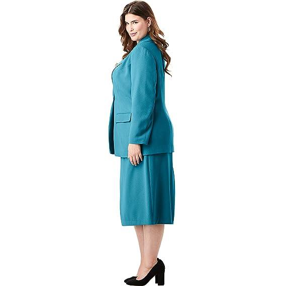 Amazon.com: Jessica London - Traje de falda de un solo pecho ...