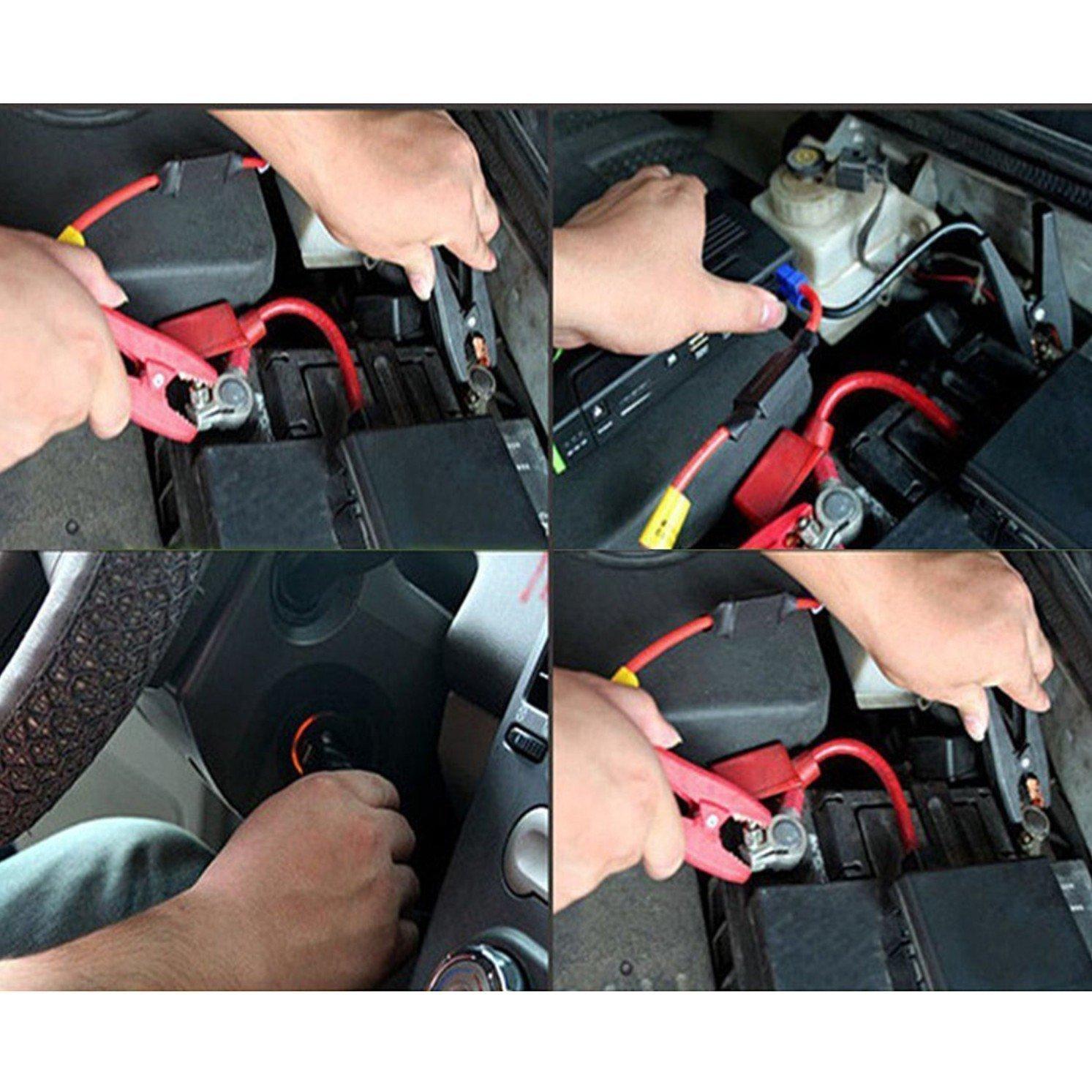 Alligator clip EC5 Battery Jumper Cable,SinLoon Booster Jumper Cables Automotive Replacement Jump Starter EC5 Connector Emergency Jumper Cable Alligator Clips for Car 12V Portable Car Jump Starter