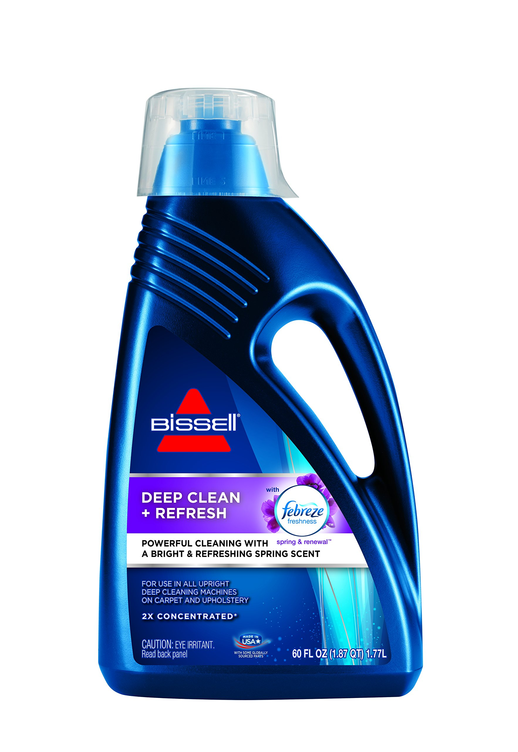BISSELL DeepClean + Refresh with Febreze Freshness Spring & Renewal Formula, 1052A, 60 ounces by Bissell