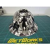 Wet Works Imaging Customized Pyramex Full Brim White Revelations Hard Hat With Ratcheting Suspension